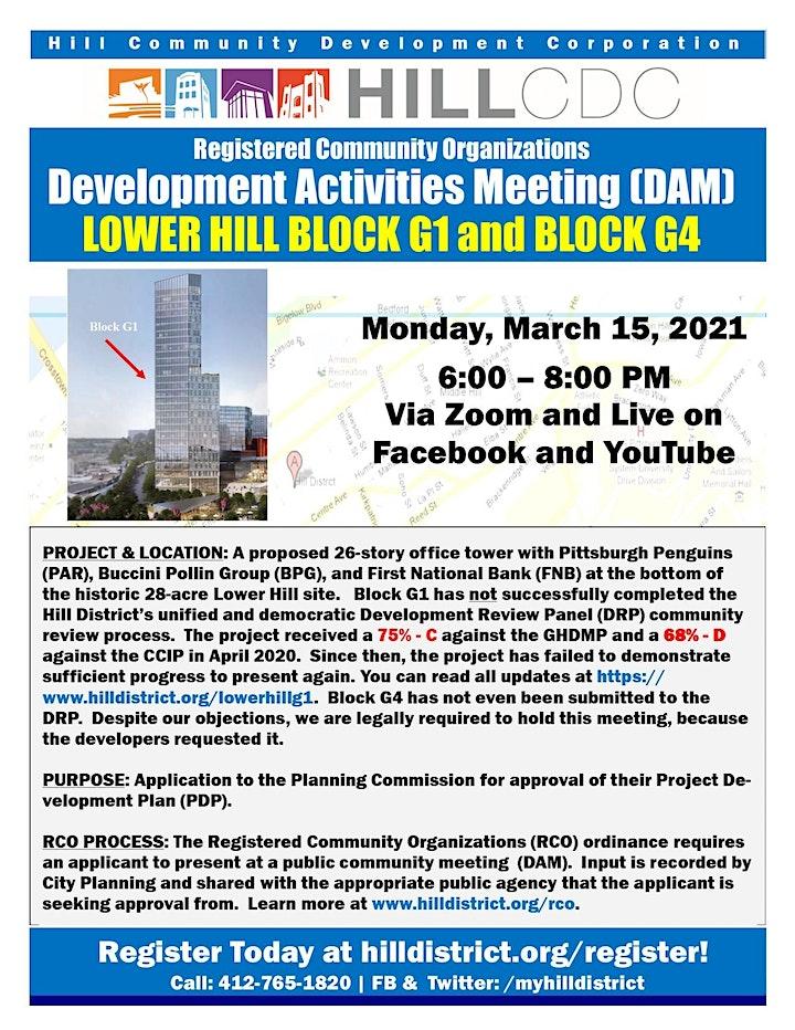 Development Activities Meeting: Lower Hill Block G1 image
