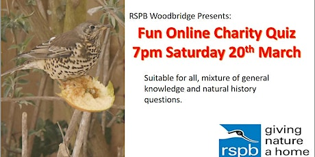 RSPB Woodbridge: Fun Charity Online Quiz tickets