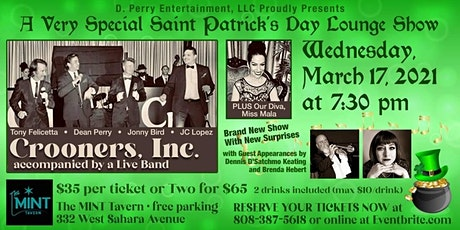 Crooners, Inc., A Very Special St. Patrick's Day Las Vegas Lounge Show tickets