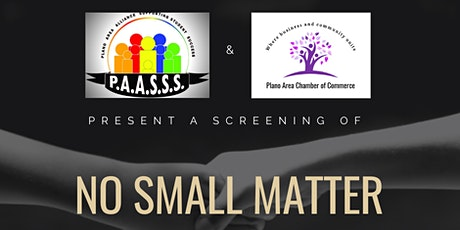 No Small Matter Virtual Screening followed by Panel Discussion tickets