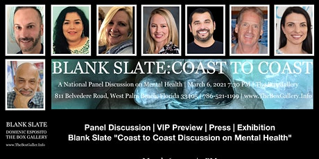 Blank Slate Coast To Coast Panel Discussion on Mental Health tickets