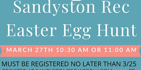 Sandyston Rec Easter Egg hunt tickets
