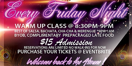 Atrium Dance Studio Latin night tickets