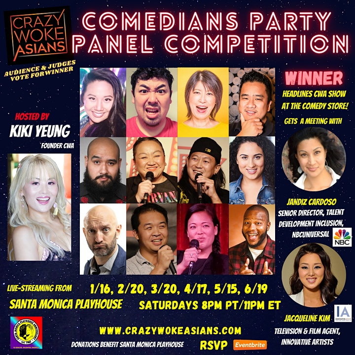 CRAZY WOKE ASIANS COMEDIANS PARTY PANEL COMPETITION FEB 20TH LIVESTREAM! image