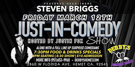 Just In Comedy Show March 12th tickets