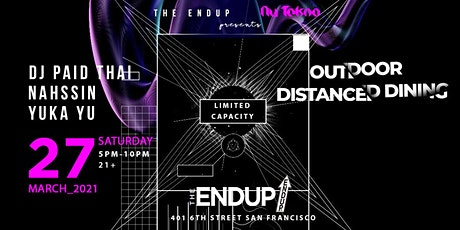 The EndUp x NU TEKNO Outdoor Distanced Dining tickets