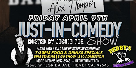 Just In Comedy Show April 9th tickets