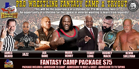 """SWE FURY """"EAST TEXAS WRESTLEFEST"""" FANTASY CAMP & TRYOUT tickets"""
