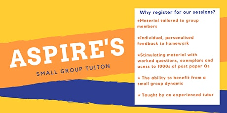 Aspire's Small Group GCSE Tuition Science & Math offered-ALL LEVELS WELCOME tickets