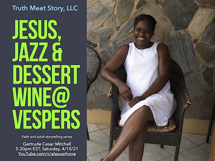 Jesus, Jazz & Dessert Wine@Vespers, featuring G. Mitchell (4/10) image
