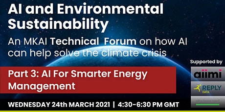 AI For Smarter Energy Management | MKAI Technical Forum on Sustainability tickets