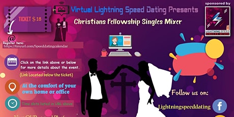 ZOOM Saturday Virtual Dating: Christian Fellowship Singles Mixer 25 to 39 tickets