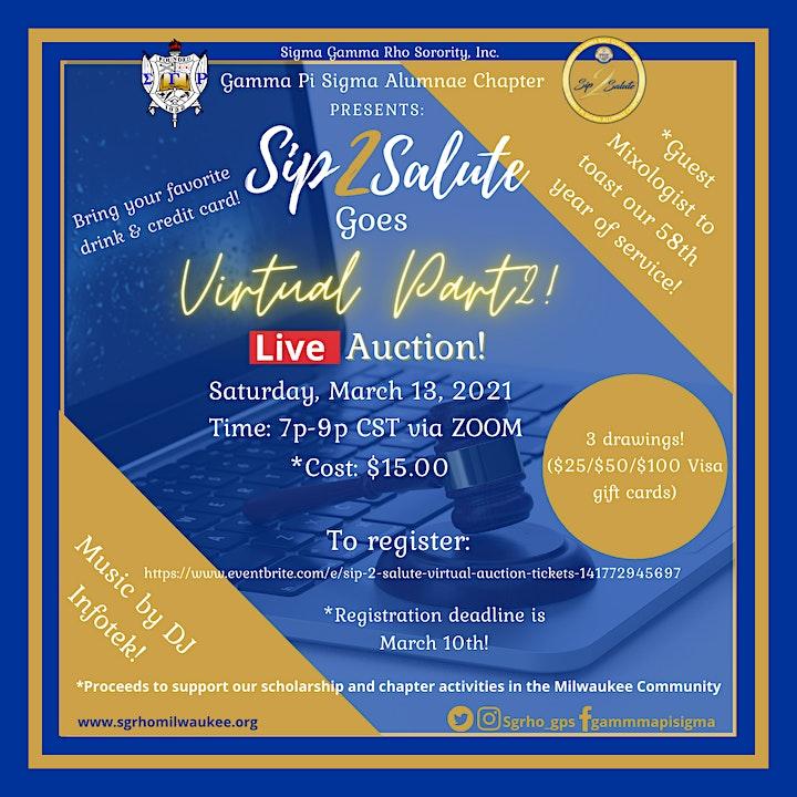Sip 2 Salute Virtual Auction image