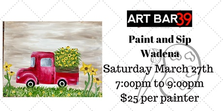Bed of Flowers| Paint & Sip| Wadena tickets