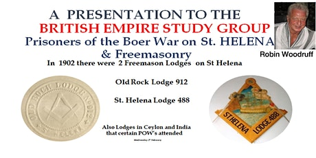 Prisoners of the Boer War on St. Helena and Freemasonry with Robin Woodruff tickets
