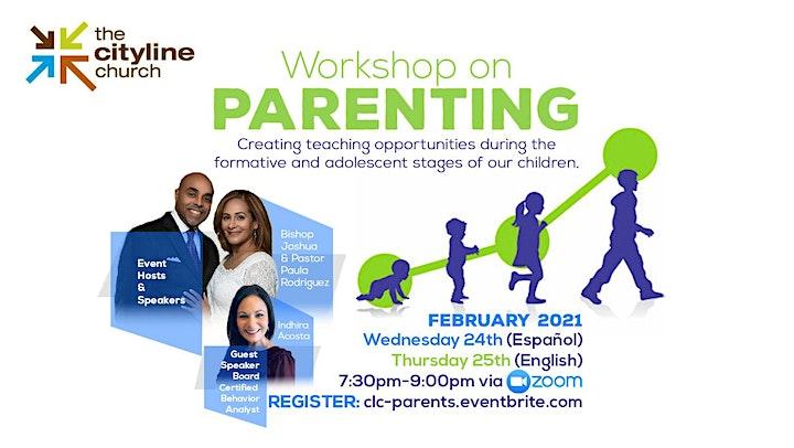 Parenting Workshop | Taller de Crianza para los Padres image