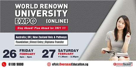 World Renown University Expo (ONLINE) tickets