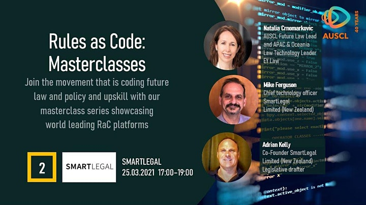 Rules as Code Masterclass 2 - SmartLegal image