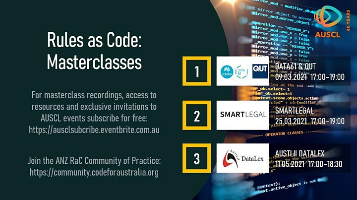 Rules as Code Masterclass 1 - Data 61 and QUT image