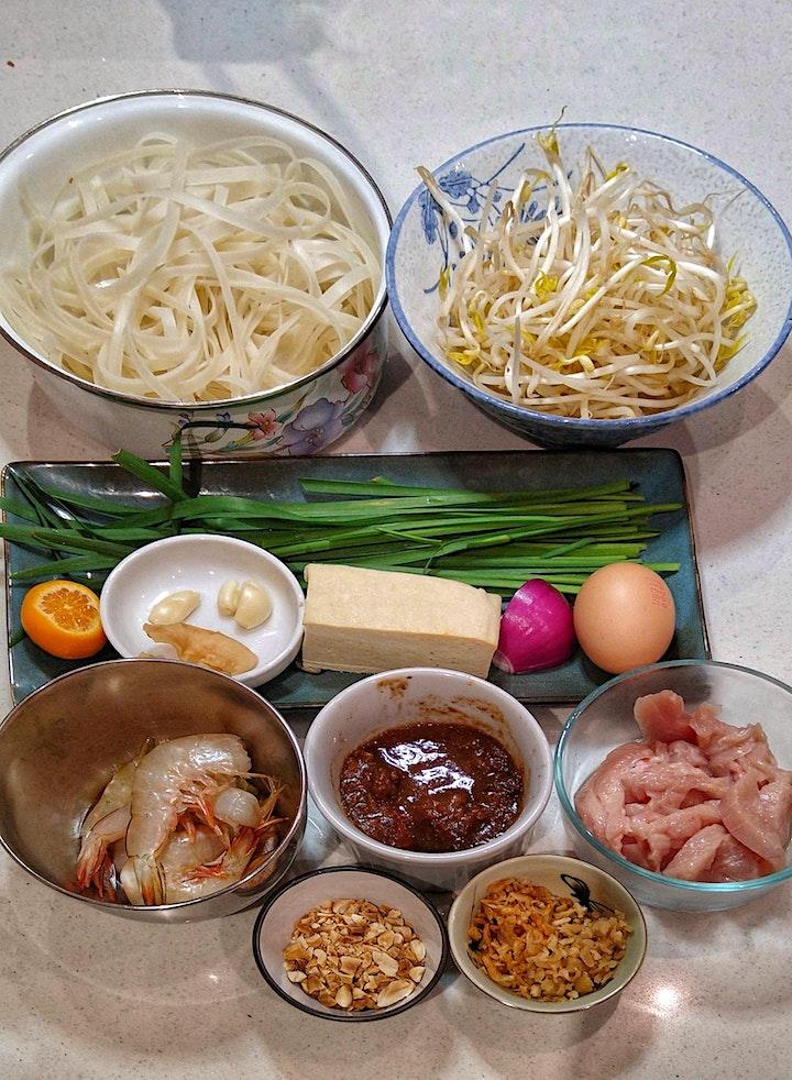 PAD THAI & Chilli Jam - Thai Street Food Online Cooking Class image