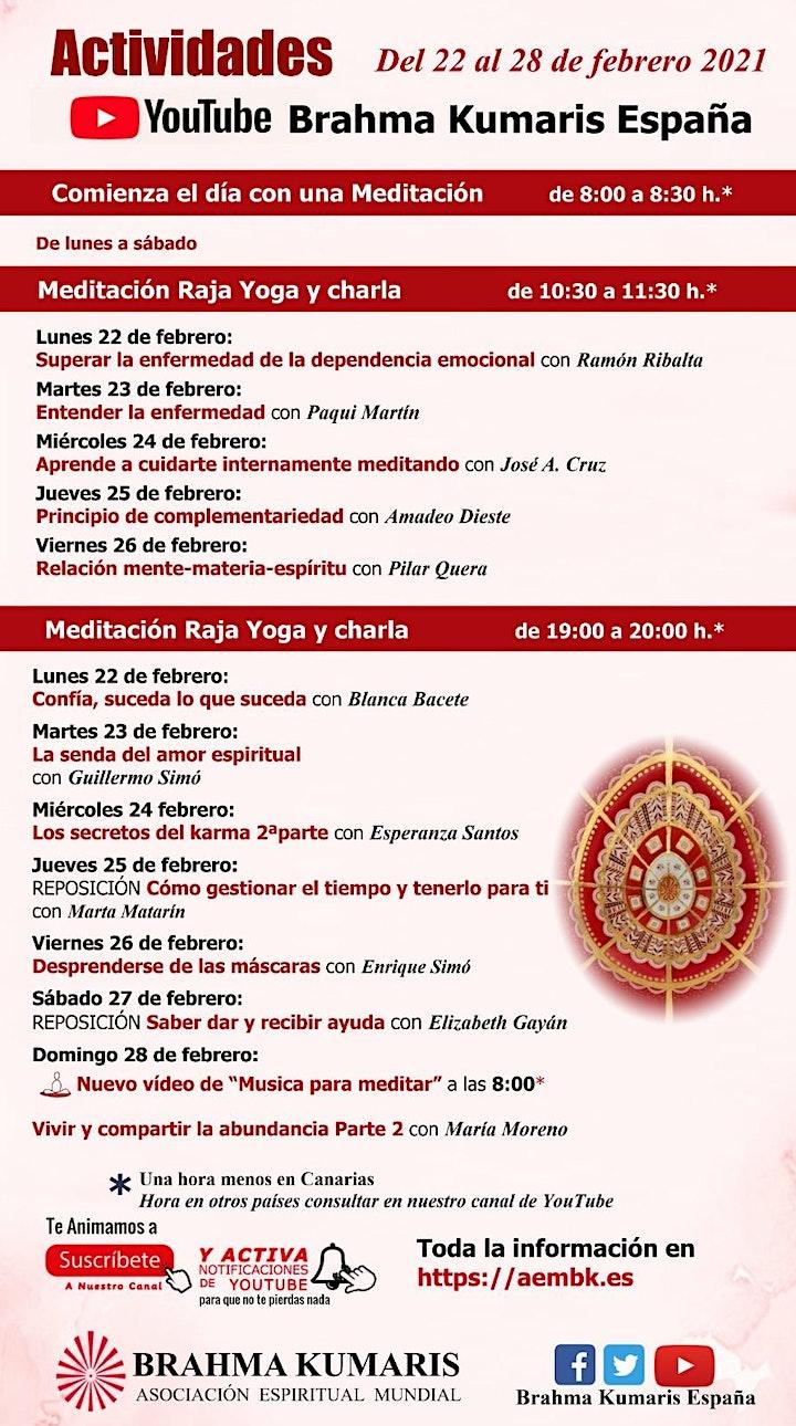 Imagen de Actividades On-Line Brahma Kumaris Semana  1 de Marzo al 7 de Marzo