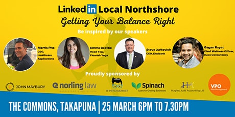 Getting Your Balance Right - Linkedin Local Northshore tickets