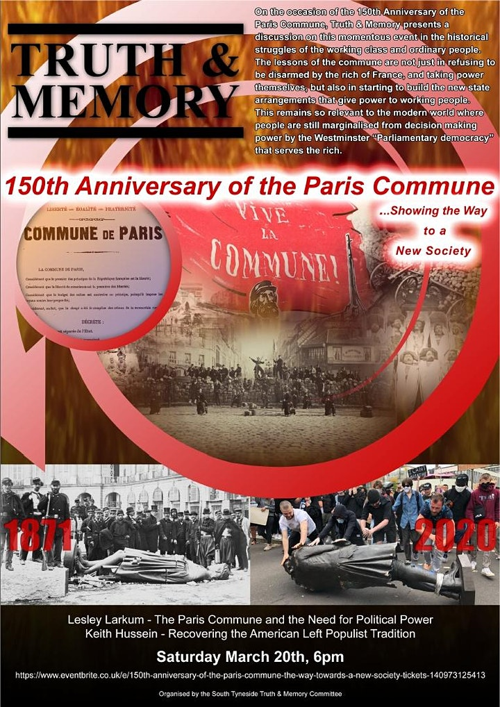 150th Anniversary of the Paris Commune  - The Way towards a New Society image