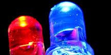 stima costante di Planck con LED biglietti