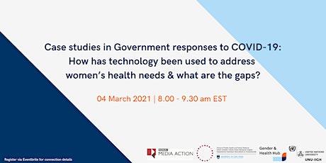 Gender and Digital Health Webinar Series biglietti