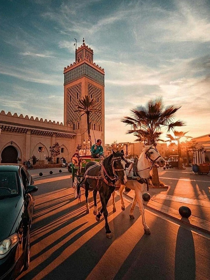 Rainy Marrakech: Virtual Live Tour by car with local image