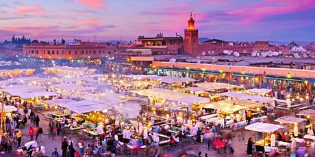Rainy Marrakech: Virtual Live Tour by car with local tickets