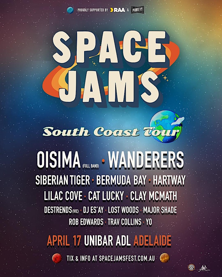 Space Jams South Coast Tour image