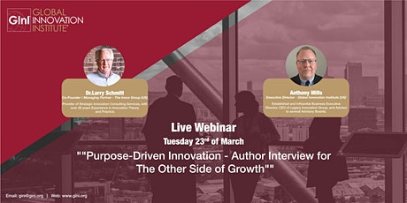 Purpose-Driven Innovation - An Author's  Perspective tickets