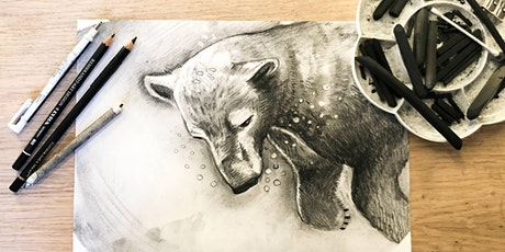 Mindful Charcoal Drawing Class, art class tickets