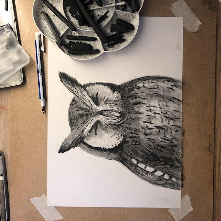 Mindful Charcoal Drawing Class, art class image