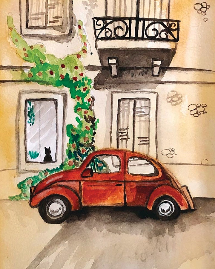 Mindful Watercolour Painting Class, art class image