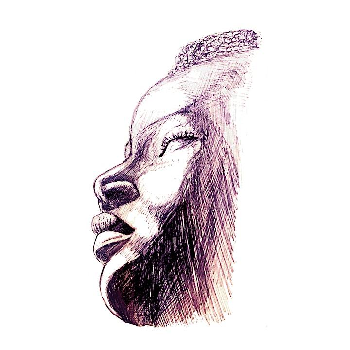 Drawing with Minimal Materials - Biro pen (ballpoint) drawing art class image