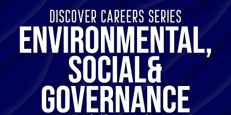 Discover Careers : ESG (ENVIRONMENTAL, SOCIAL AND GOVERNANCE) tickets