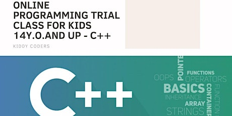 Intro to  C++ Programming - Private  Trial for Kids 14y.o. and up tickets