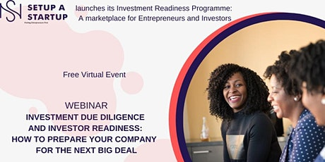SETUP A STARTUP | Launch Investment Readiness Digital  Platform: Webinar Tickets