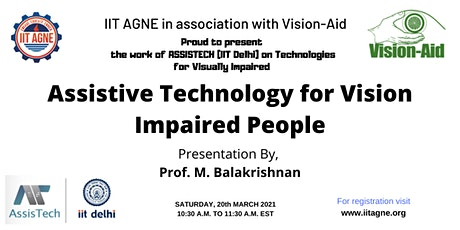 Assistive Technology for Vision Impaired People tickets