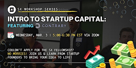 Workshop 2: Introduction to Startup Capital with Contrary Capital tickets