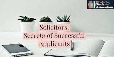 Solicitors: Secrets of Successful Applicants tickets
