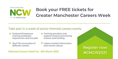 Greater Manchester Careers Week - Virtual Careers Fair #GMCW2021 tickets