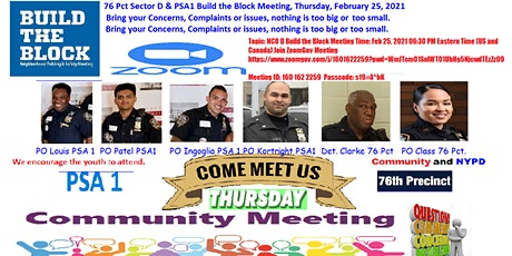 76 Pct Sector D & PSA1 Build the Block Zoom Meeting tickets