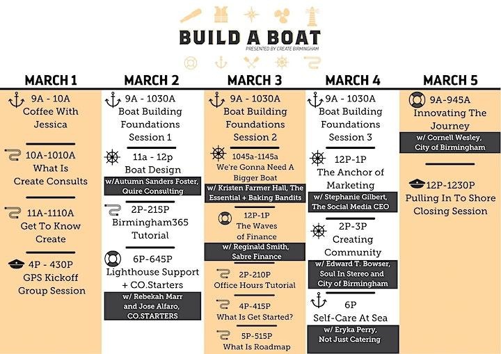 BUILD A BOAT Mini Conference image
