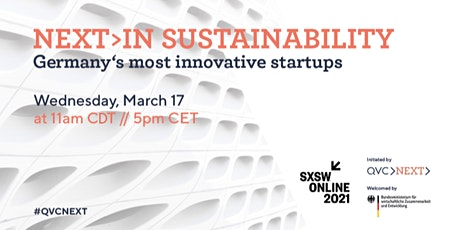 NEXT>IN SUSTAINABILITY - Germany's most innovative startups tickets