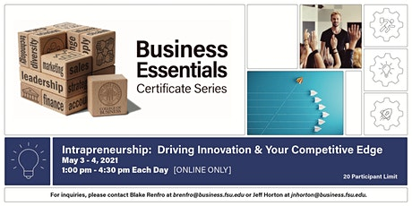 Intrapreneurship: How to Drive Innovation and Your Competitive Edge tickets