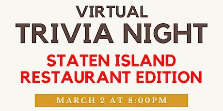 CSI Alumni Association Presents: Staten Island Food Virtual Trivia tickets