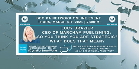 BBO PA Network ONLINE  - Lucy Brazier 'Strategic?' - 04/03/21 tickets